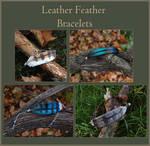 Leather Feather Bracelets