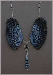 Harpy Eagle Wings - Leather Pendant by windfalcon