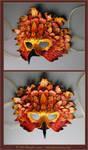 Autumn Raptor - Leather Mask