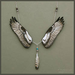 Osprey Wings - Leather Necklace