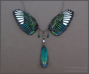 Magpie Wings - Leather Necklace
