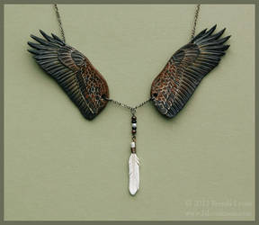 Bald Eagle Wings - Leather Necklace