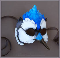 Blue Jay - Leather Mask by windfalcon