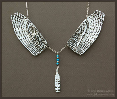 Snowy Owl Wings - Leather Necklace