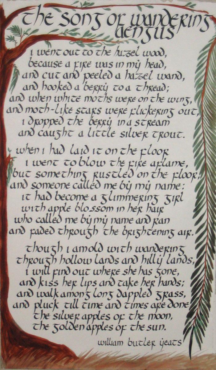 Calligraphy - W.B. Yeats Poem