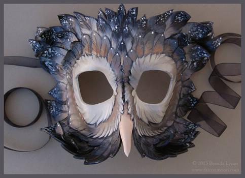 Dusky Starlight Owl - Leather Mask