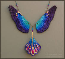 Radiance Falcon Wings - Leather Necklace