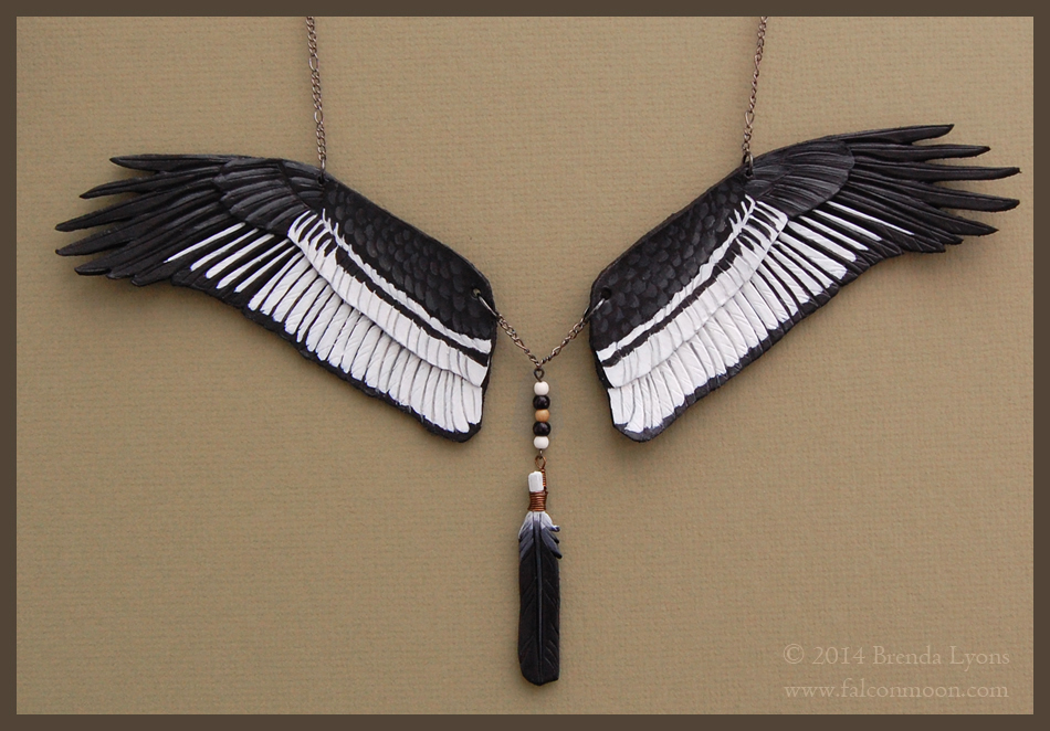 Andean Condor - Leather Wing Necklace by windfalcon