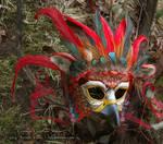 Crimson Gryphon Leather Mask