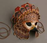 Fantasy Red-Tailed Hawk - Leather Mask