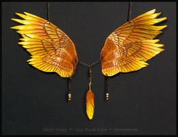 Gabriel Angel Wings - Leather Necklace