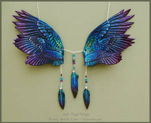 Dusk Angel Wings - Leather Necklace