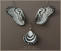 Harpy Eagle Wings II - Leather Wing Necklace by windfalcon