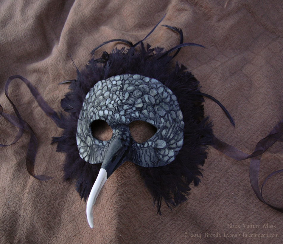 Black Vulture Leather Mask by windfalcon
