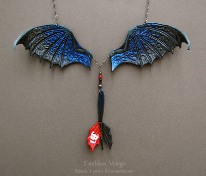 Toothless Wings - Leather Necklace