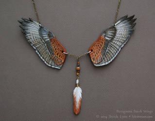 Ferruginous Hawk Wings - Leather Necklace