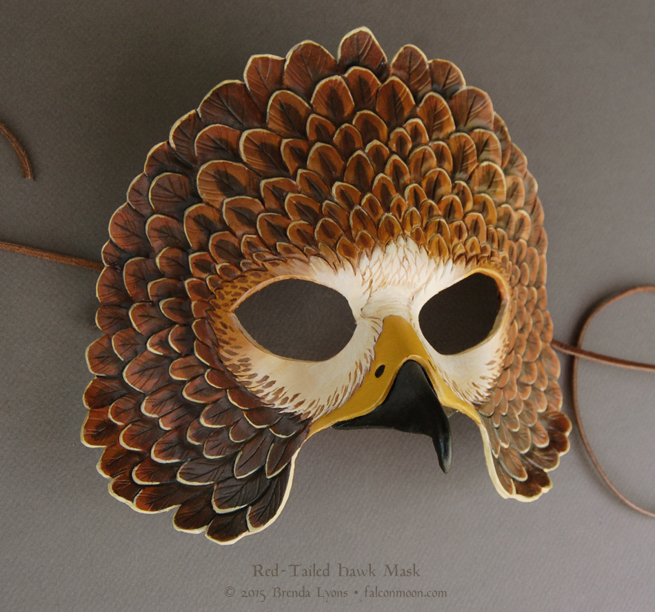 Red Tailed Hawk - Leather Mask by windfalcon on DeviantArt