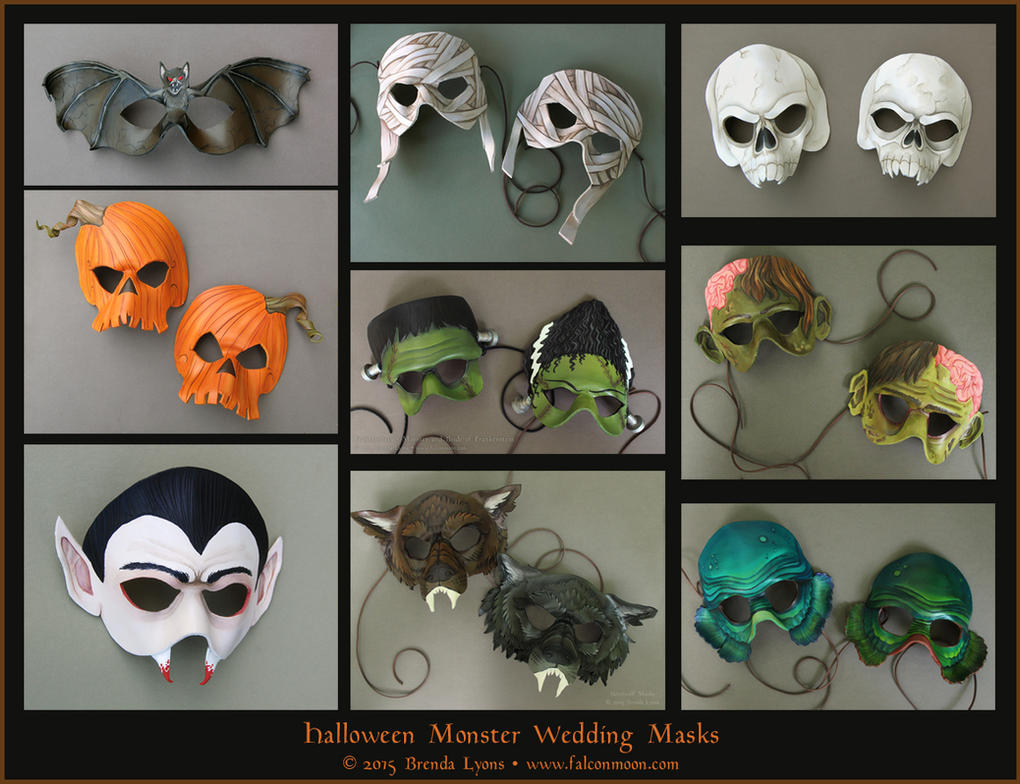 Halloween Monster Wedding Masks by windfalcon