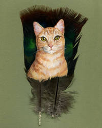 Ginger Kitty by windfalcon