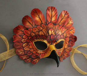 Simple Autumn Falcon Mask by windfalcon