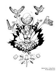 Inktober Witch Challenge - Day 2 - Urban Witch by windfalcon