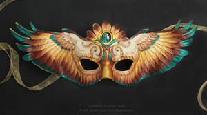 Labradorite Gryphon Wings - Leather Mask