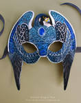 Knotwork Peregrine Falcon - Leather Mask