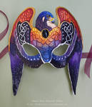 Knotwork Falcon - Sunset Stars - Leather Mask