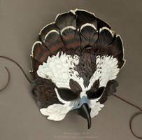 Fantasy Osprey Leather Mask by windfalcon