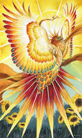 The Sun - 78 Mythical Tarot by windfalcon