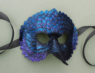 Colorful Crow Mask by windfalcon