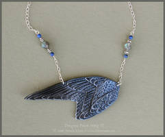 Peregrine Falcon Wings II - Leather Necklace by windfalcon