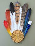 Leather Feather Ritual Fan