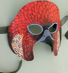 Red Falcon Leather Mask