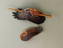 Harris Hawk Barrettes