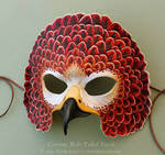 Crimson Red-Tailed Hawk Mask by windfalcon