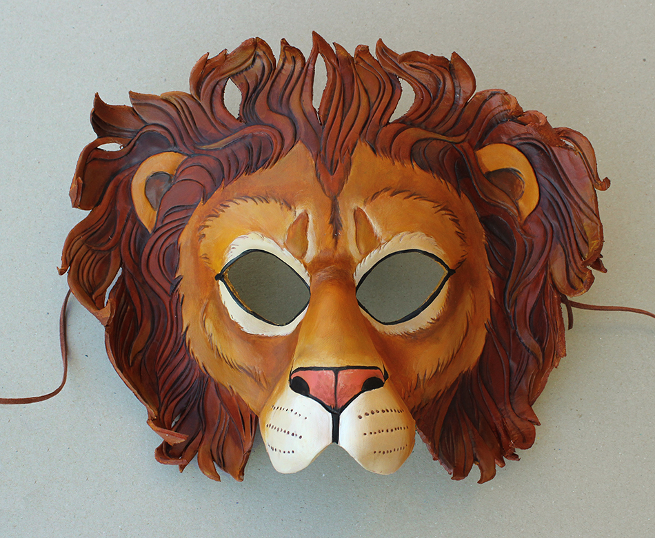 Leather Lion Mask by windfalcon