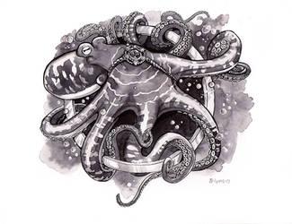 Inktober Day 7: Enchanted Octopus