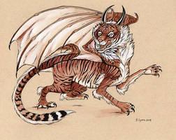 Inktober Day 12: Tiger Dragon
