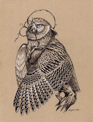 Inktober Day 14: Overgrown Blakiston's Fish Owl by windfalcon