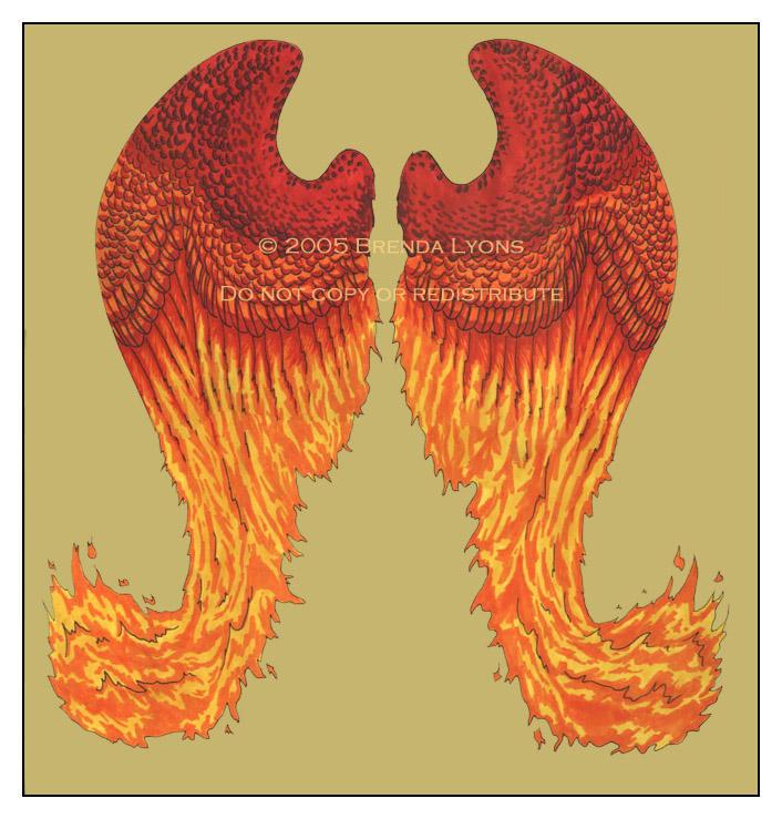 Phoenix Wings - Tattoo by windfalcon