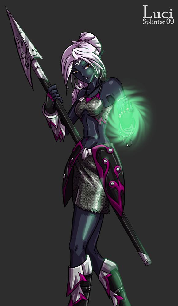 Luci, Drow Priestess by LaughingOrc