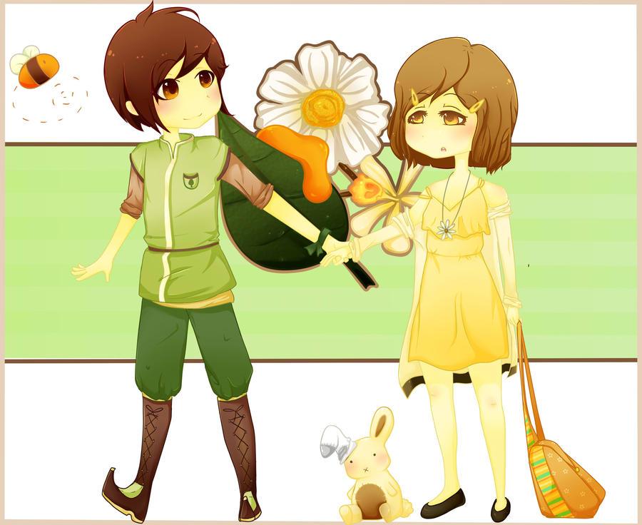 Honey Green Tea and Vanilla Chamomile by vinylah