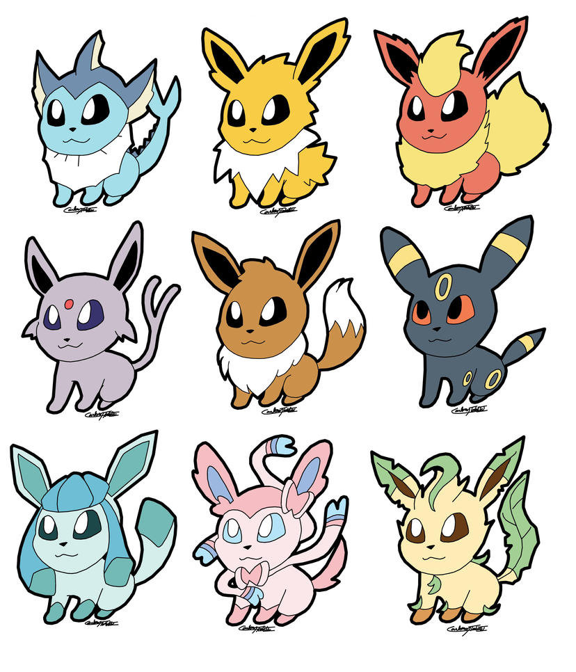 Eeveelution Chibi by CaloyPinoy on DeviantArt