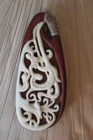 Bone and Wood Pendant by Steve-Thorpe