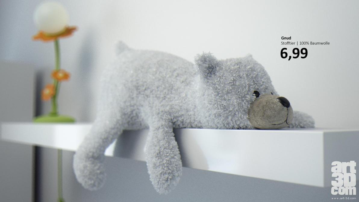 Gnud the Plush Icebear by ChrRambow
