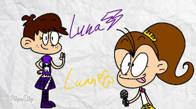 Luna n' Luan by Kittygreenfox67