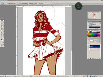 Color progress of this work by Julianlytle