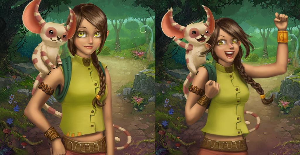 Character creation for TapTiles Saga by 2MindsStudio