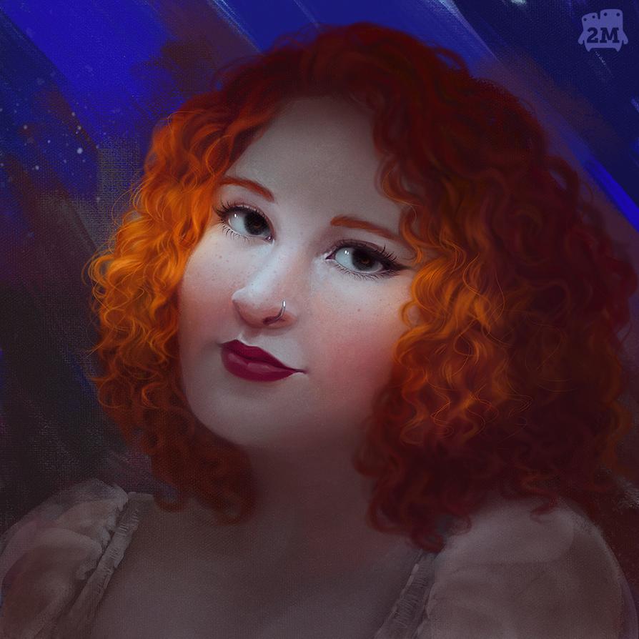 Suelen portrait study by 2MindsStudio